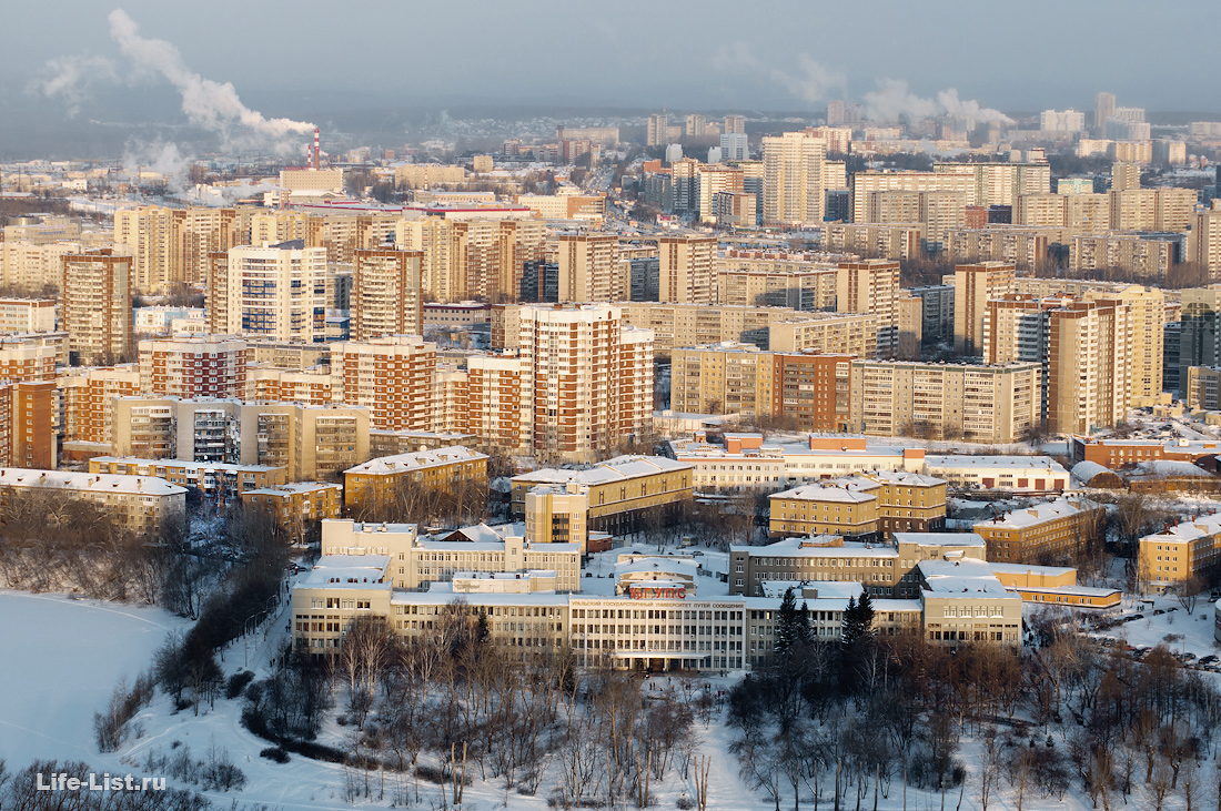 микрорайон заречный с высоты Екатеринбург фото Виталий Караван
