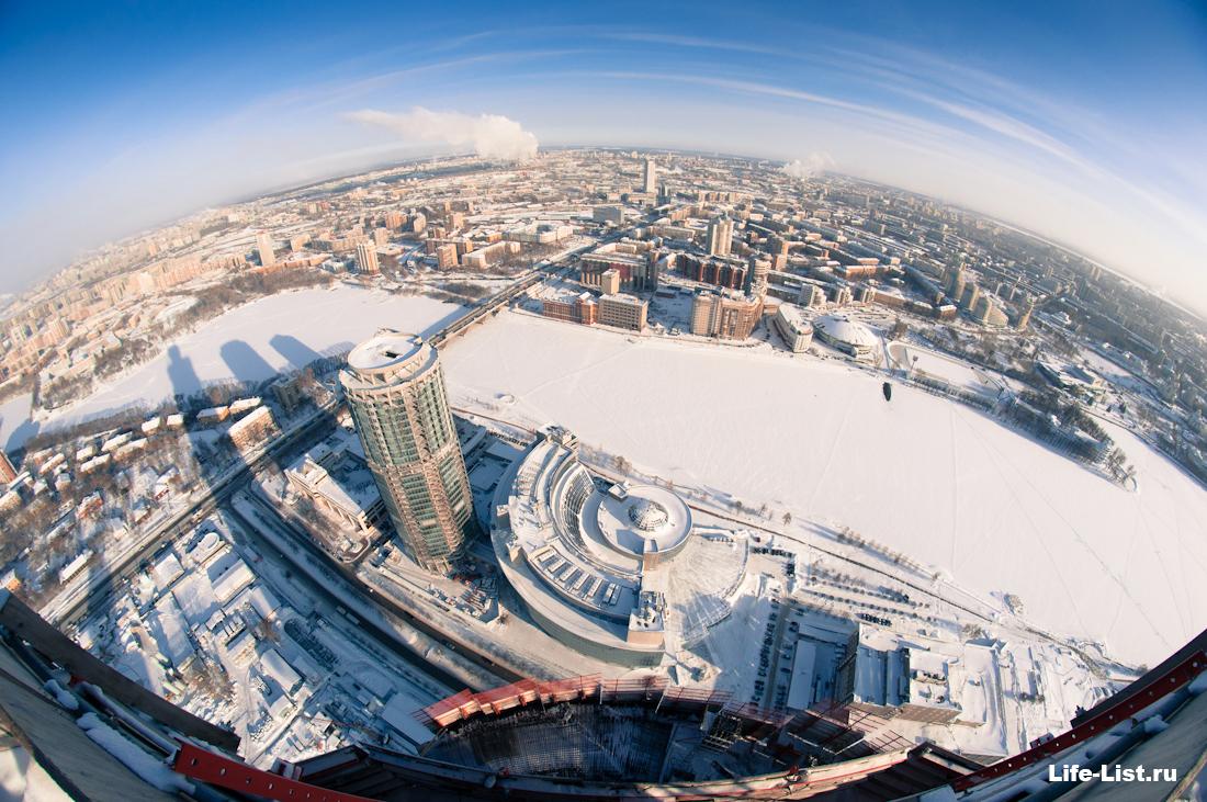 фото с небоскреба башня Исеть в Екатеринбурге