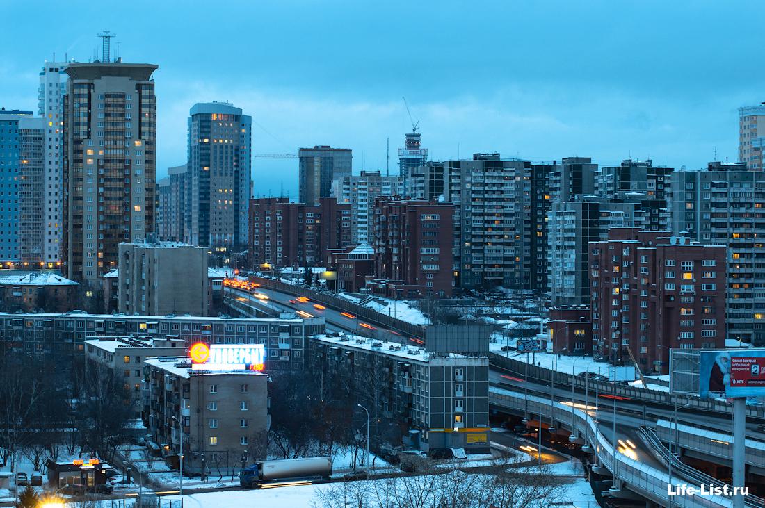 улица московская автомобильная эстакада Екатеринбург