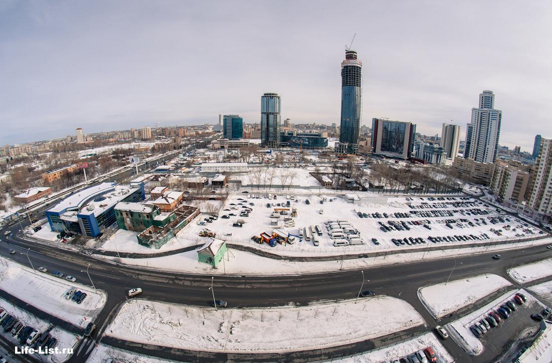Екатеринбург сити стройка башня Исеть