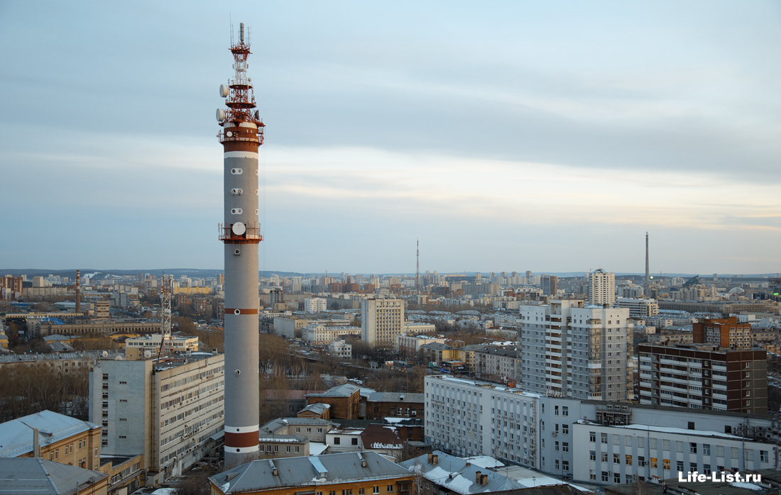 Екатеринбург Радиорелейная башня Ростелеком фото