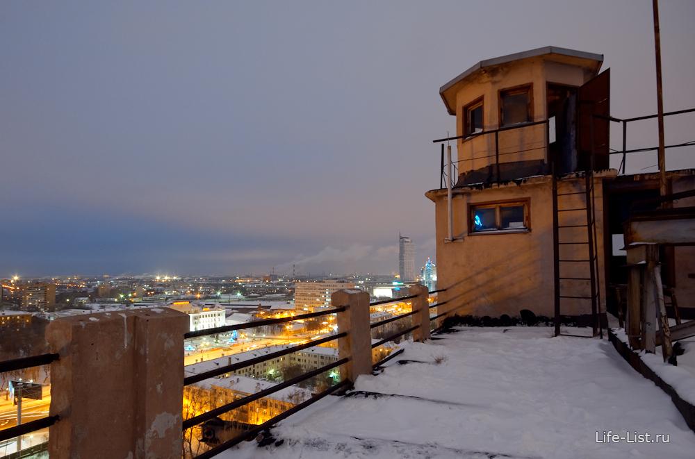 башенка ЕМЗ мукомольный завод ночное фото