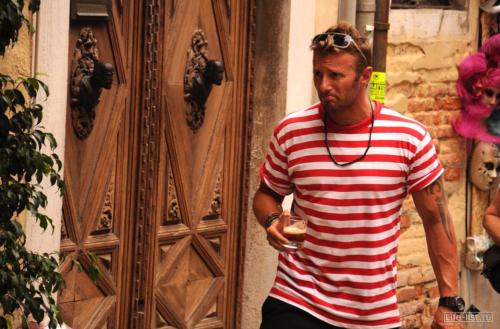 Гондольера фото Италия Венеция