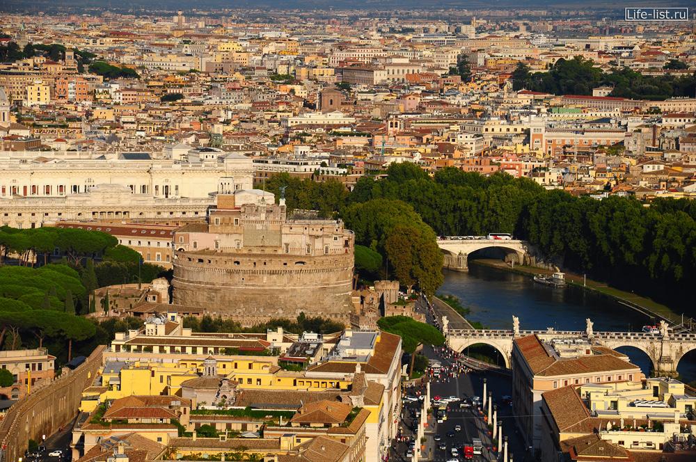 Rome Вид на Рим с высоты Крепость Замок святого Ангела красивое фото