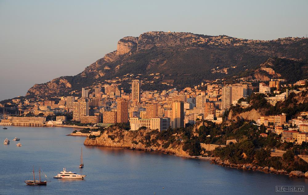 Вид на Монако Монте Карло с высоты фото