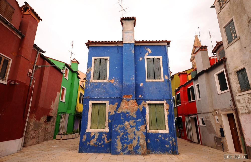 Остров Бурано разноцветные домики фото Виталий Караван