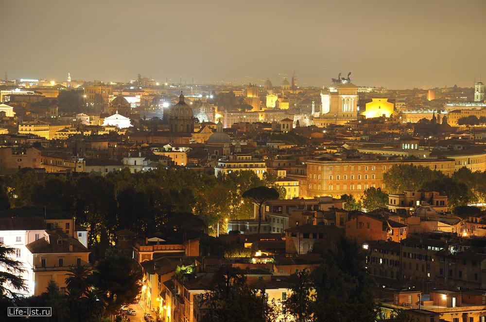 Рим с высоты холма фото Виталий Каравн
