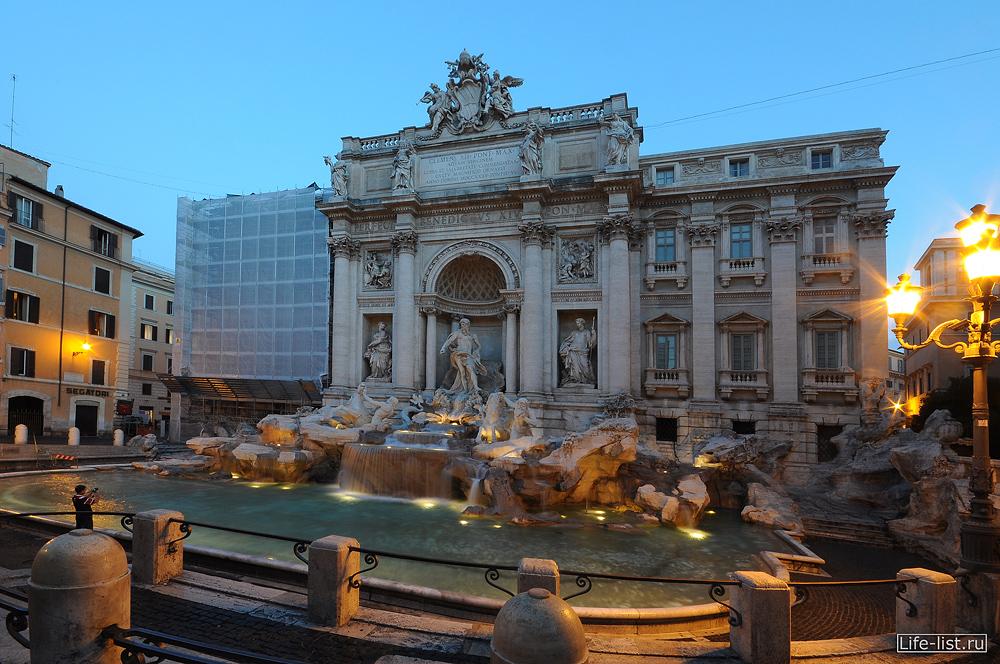 Фонтан Треви в Риме утреннее фото Виталий Караван