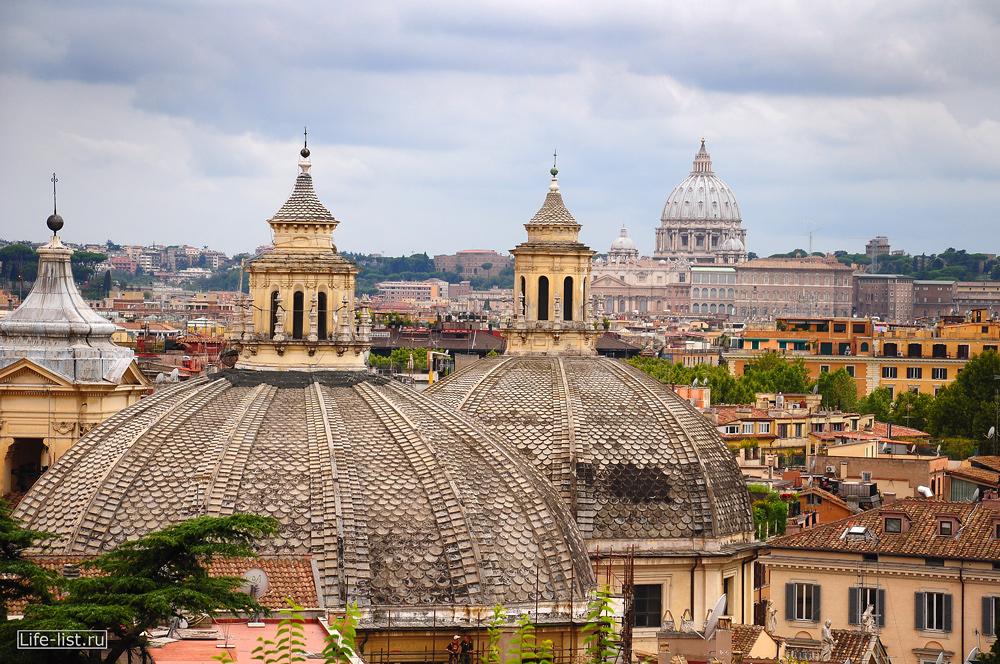 Рим с высоты купола и крыши фото Лазукиной Жени