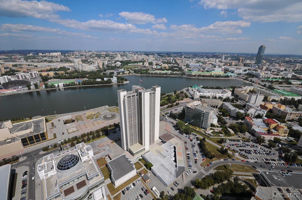 Екатеринбург вид с высоты