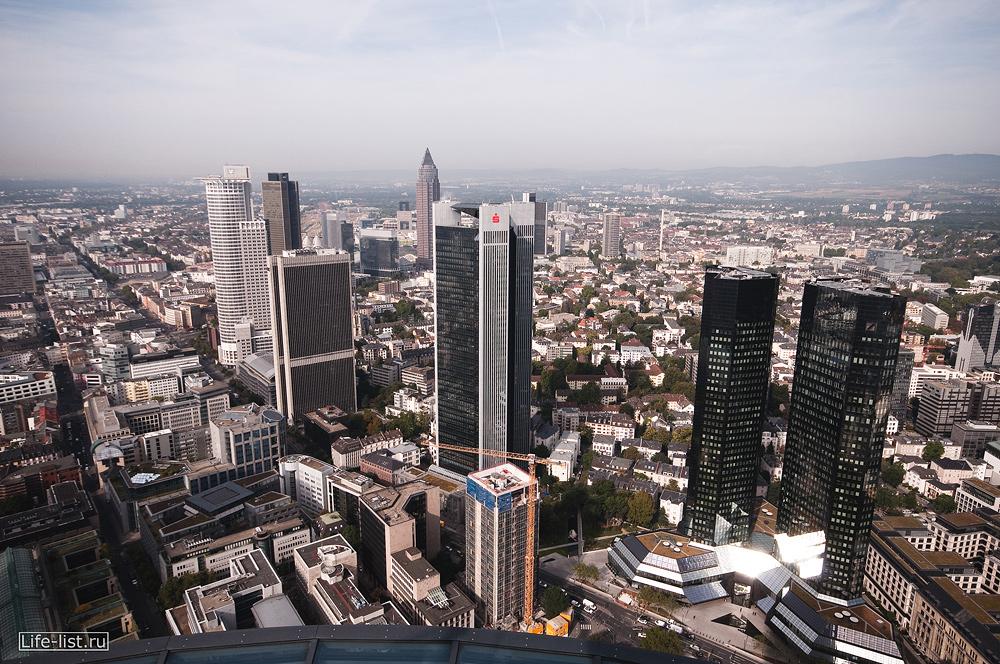 Германия фото с высоты Франкфурта на Майне смотровая площадка