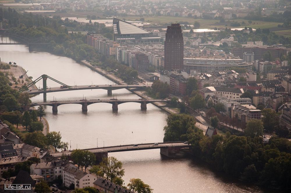 Мосты через реку Майн вид с высоты фото Виталий Караван