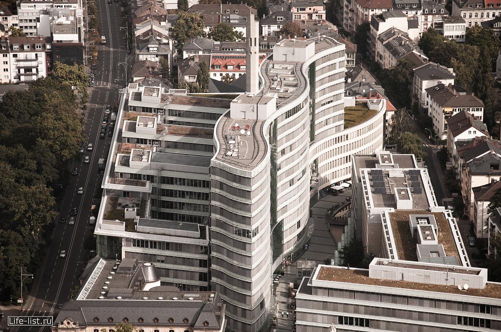 Франкфурт на майне с высоты небоскреба