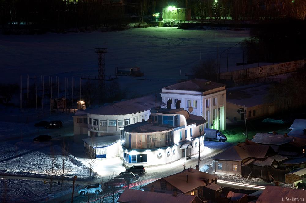 Ночной Екатеринбург визовское водохранилище