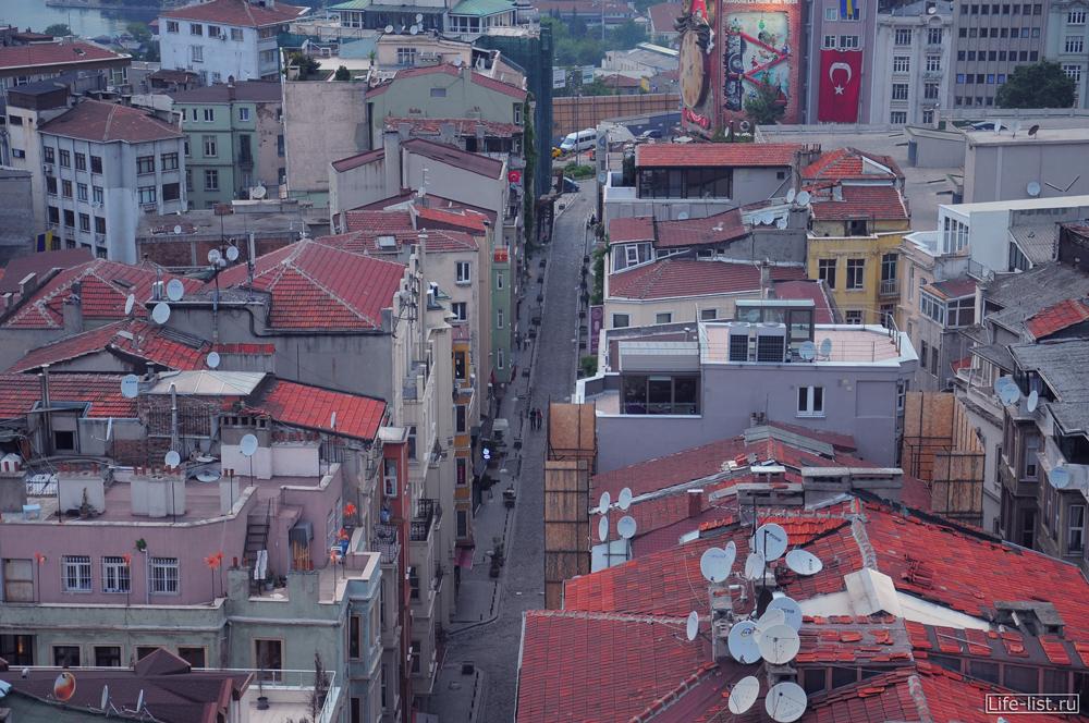 улочка в стамбуле с высоты