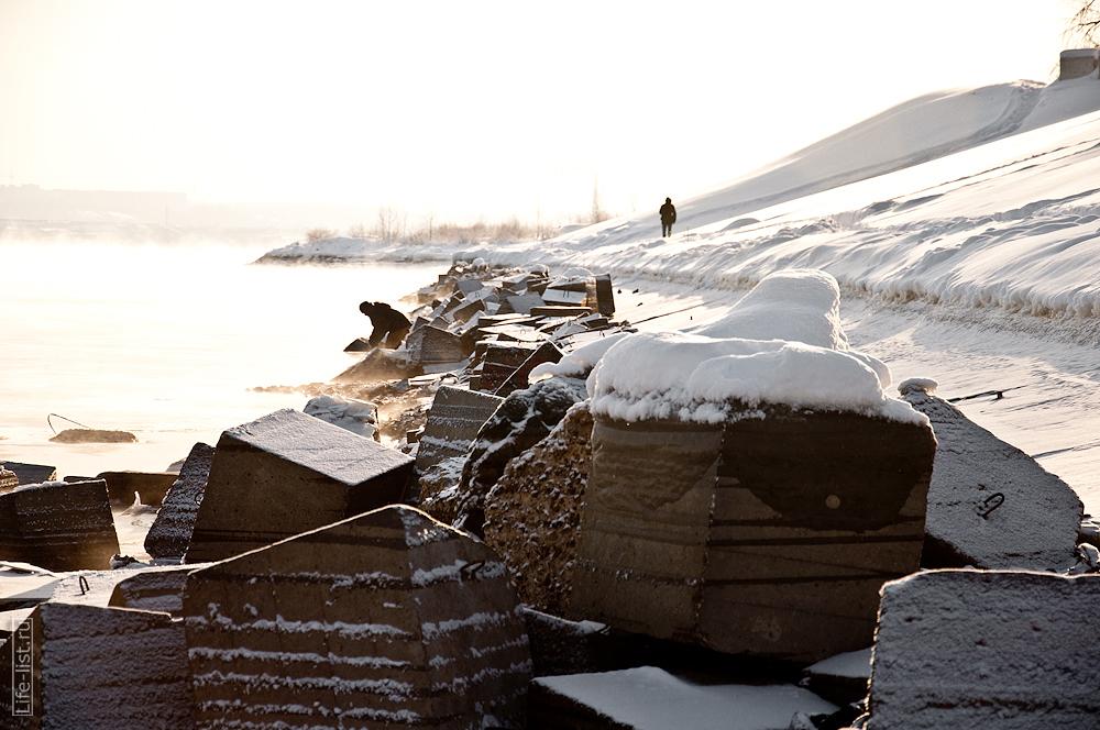 берег камы Пермь