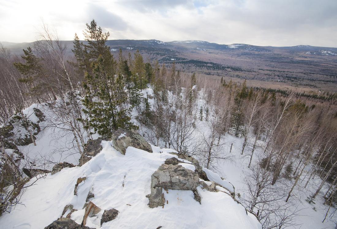 вершине горы Аблей Средний Урал