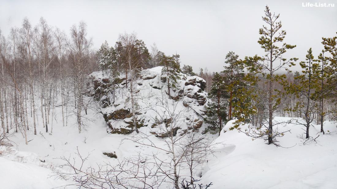 скалы горы Балобан около Дегтярска Урал