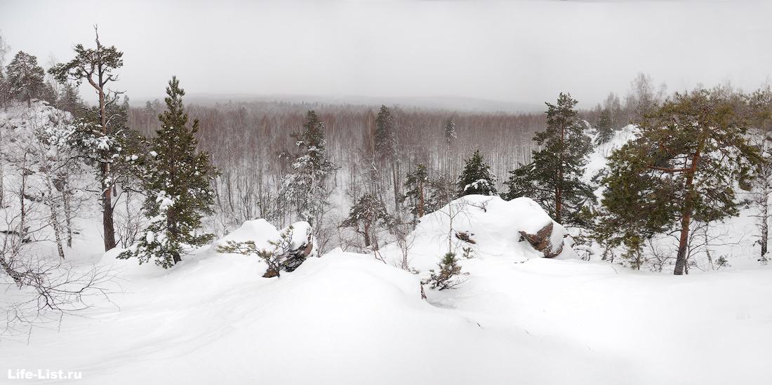 вид с горы Балабан Дегтярск зимой