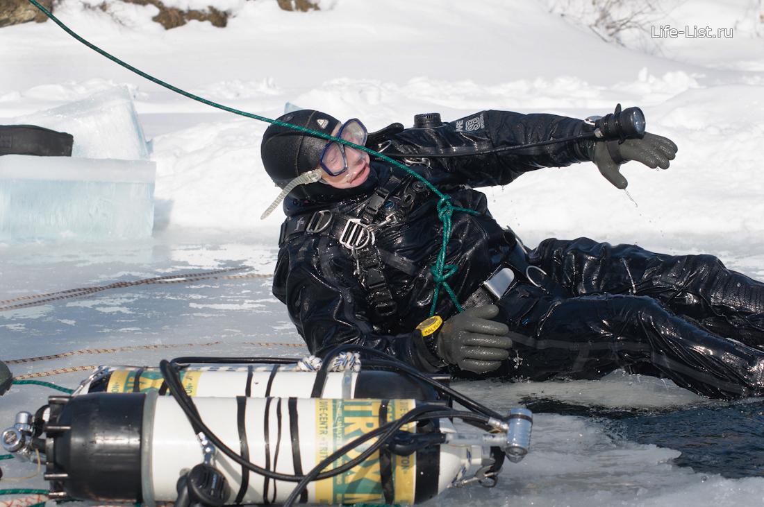 фото Виталий Караван подледный аквалангист