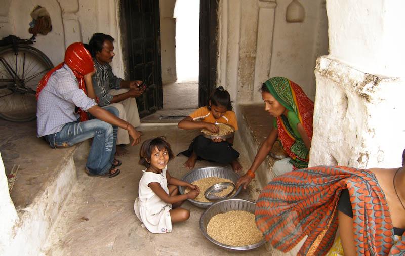 В индийской деревне