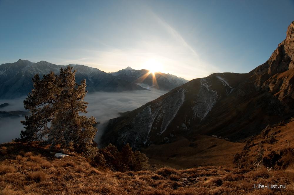 Цей лоам Ингушетия красивые кавказкие горы
