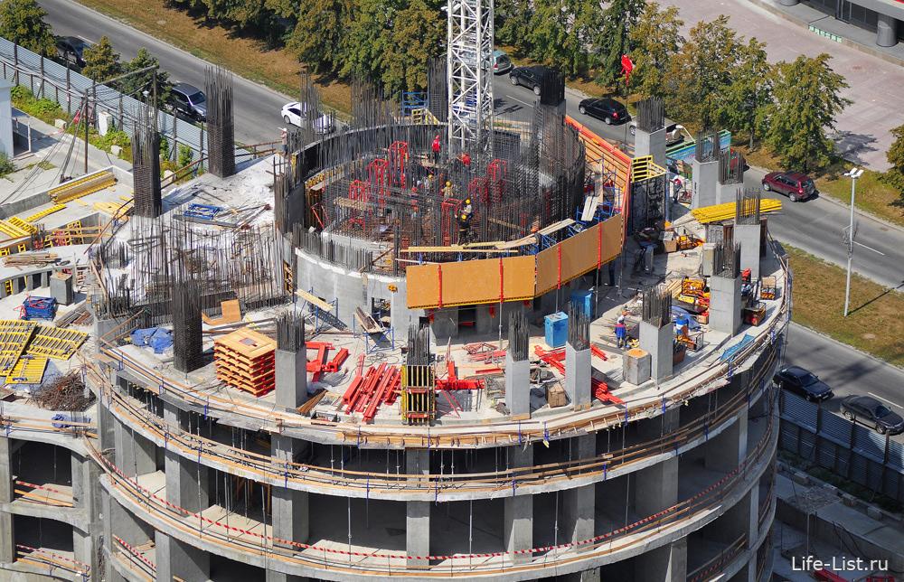 строительство башни Исеть лето 2012 фотография Виталий Караван