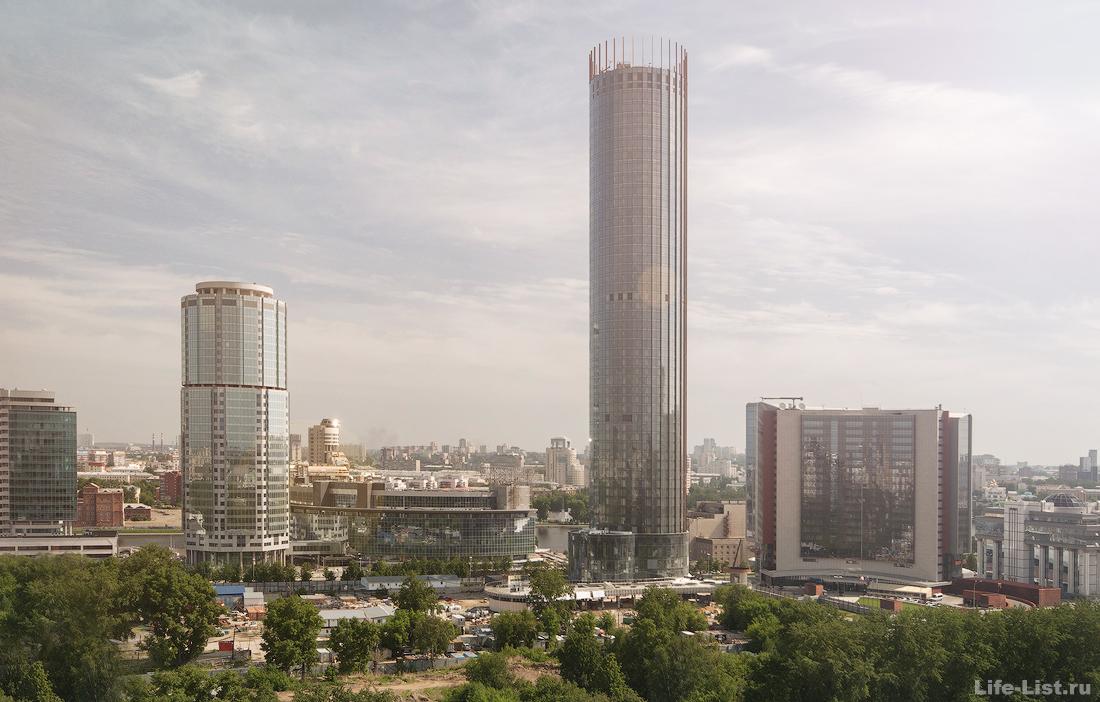 этапы строительства башни Исеть в Екатеринбурге фото Виталий Караван