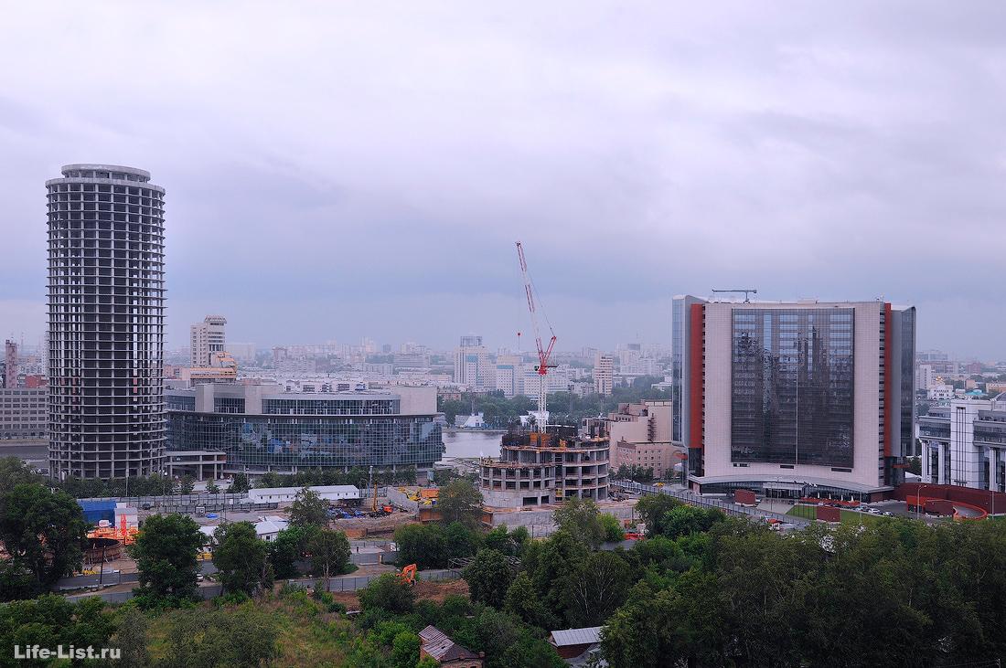июнь 2012 этапы строительства башни Исеть в Екатеринбурге фото Виталий Караван