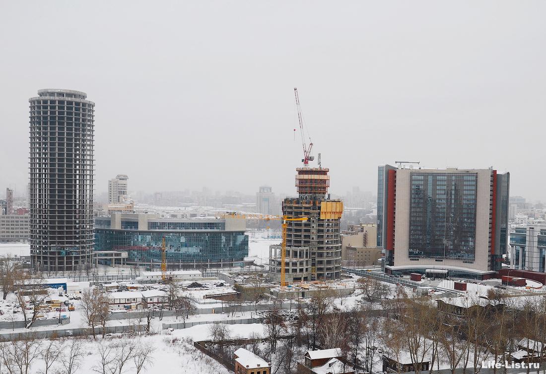 декабрь 2012 этапы строительства башни Исеть в Екатеринбурге фото Виталий Караван