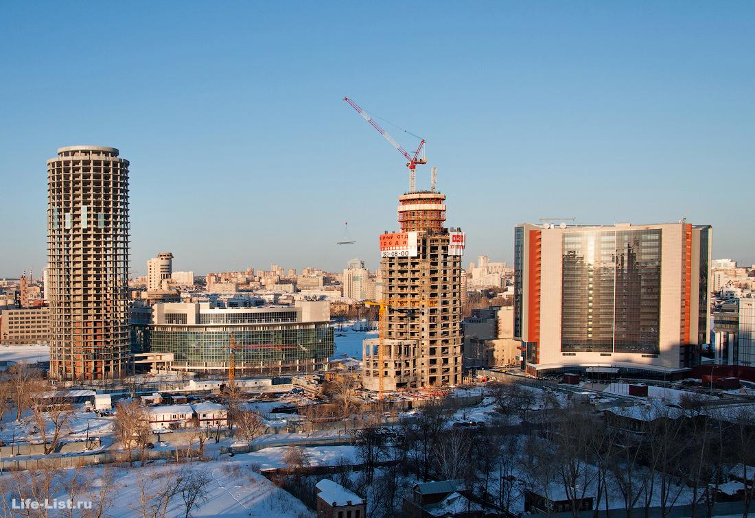 март 2013 этапы строительства башни Исеть в Екатеринбурге фото Виталий Караван
