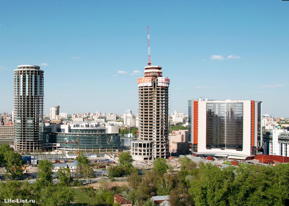 май 2013 этапы строительства башни Исеть в Екатеринбурге фото Виталий Караван