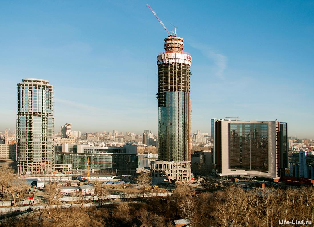 ноябрь 2013 этапы строительства башни Исеть в Екатеринбурге фото Виталий Караван