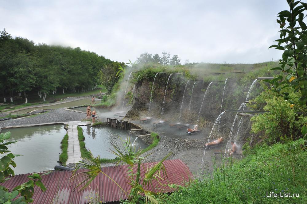 высокотермальный горячий источник в Абхахии Кындыг санаторий Эвкалиптовая роща