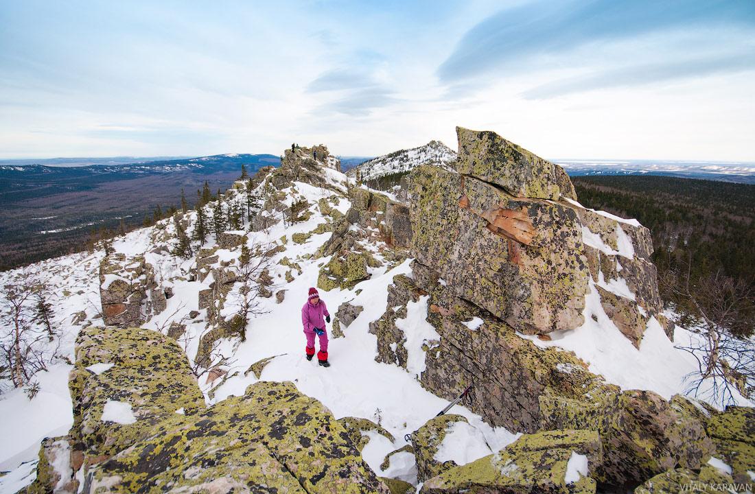 Ицыл в национальном парке Таганай скалы Южный Урал
