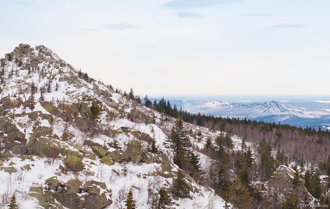 гора Ицыл Таганай зимой скалы