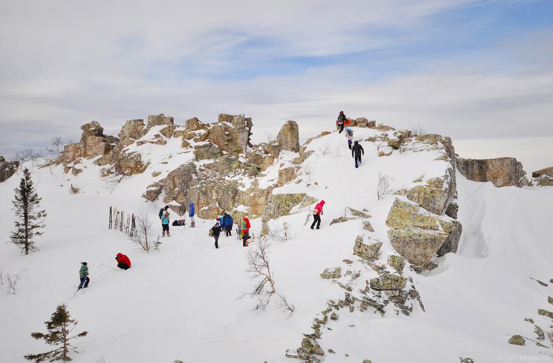 вершина горы Ицыл туристы фотография