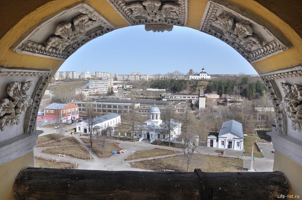 Вид на город с колокольни в Каменске