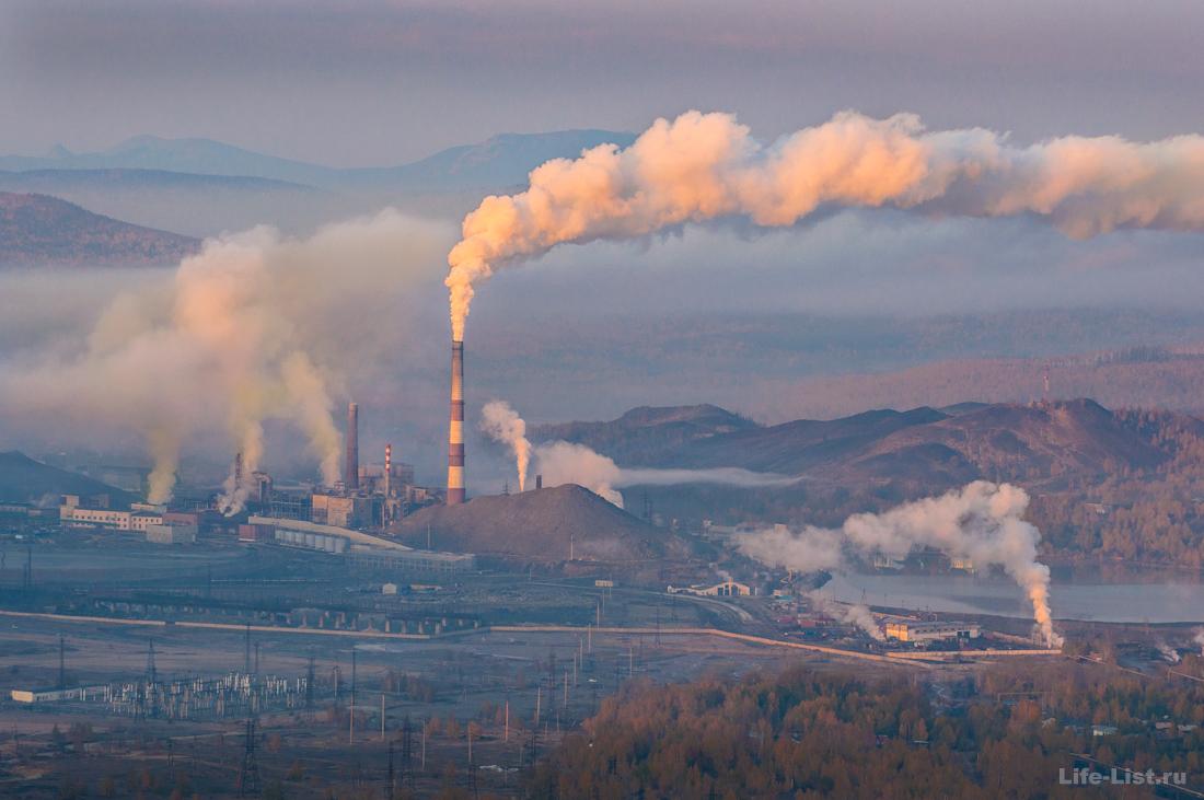 завод Карабашмедь с горы Карабаш фото Виталий Караван
