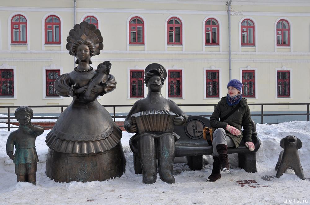 Композиция Семья Памятник в Кирове
