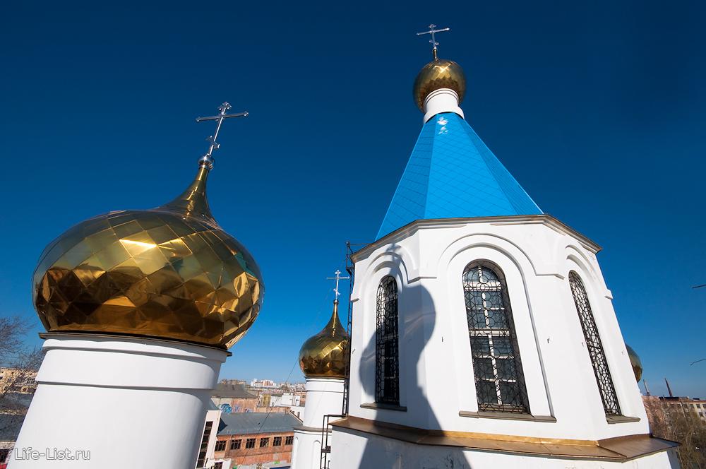 вид с колокольни храма Рождества Христова Екатеринбург