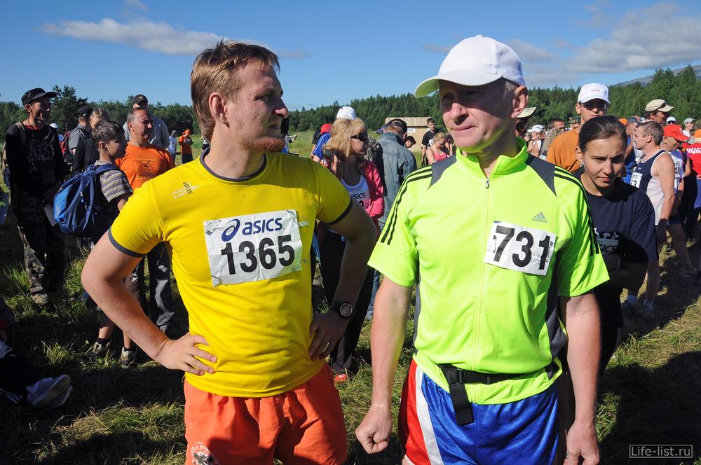Участники конжаковского марафона перед стартом