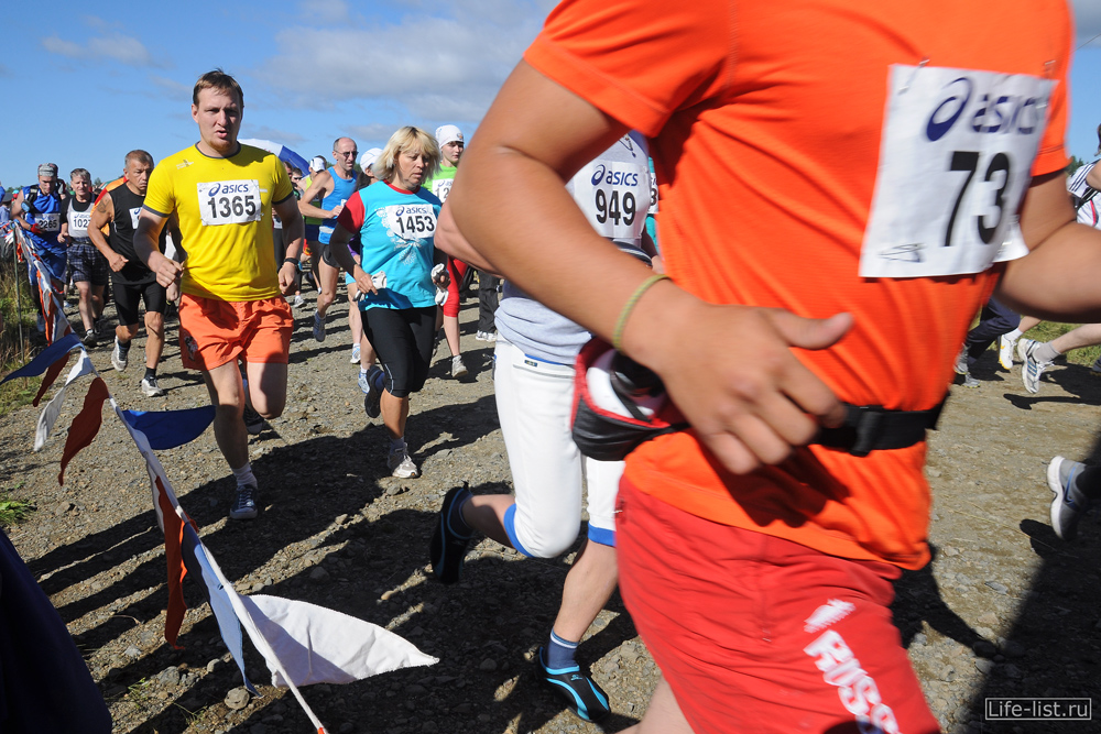 Виталий Караван в рядах марафонцев Конжак 2012