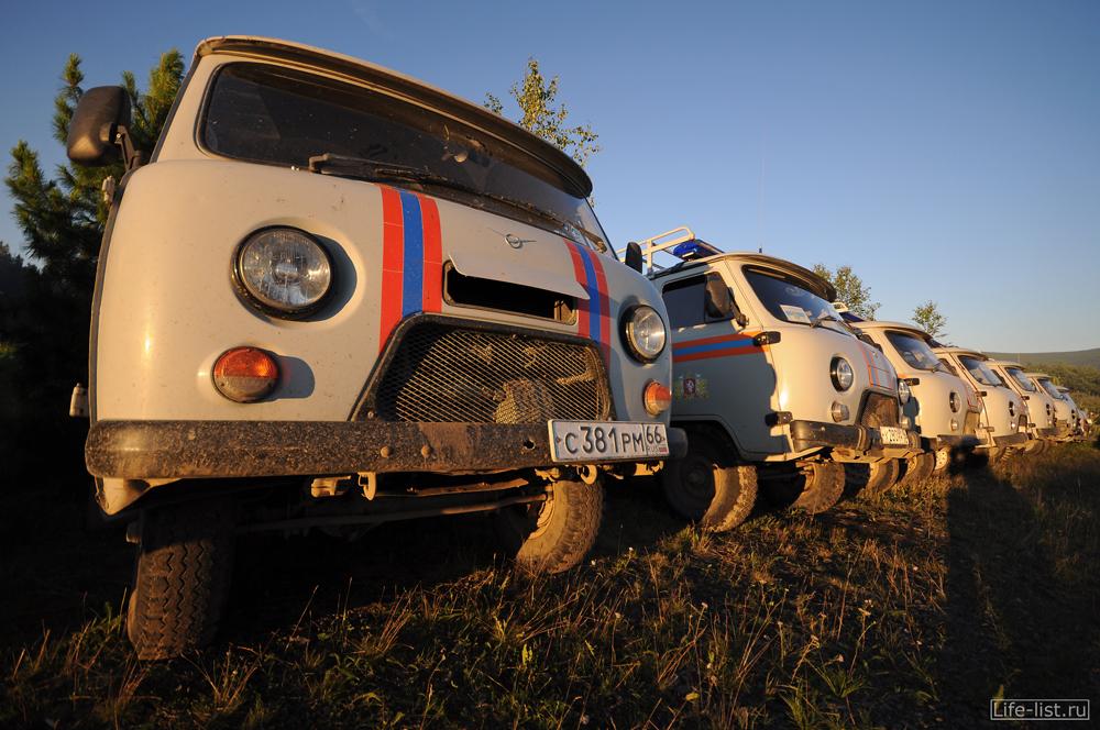 Машины службы спасения на марафоне Конжак