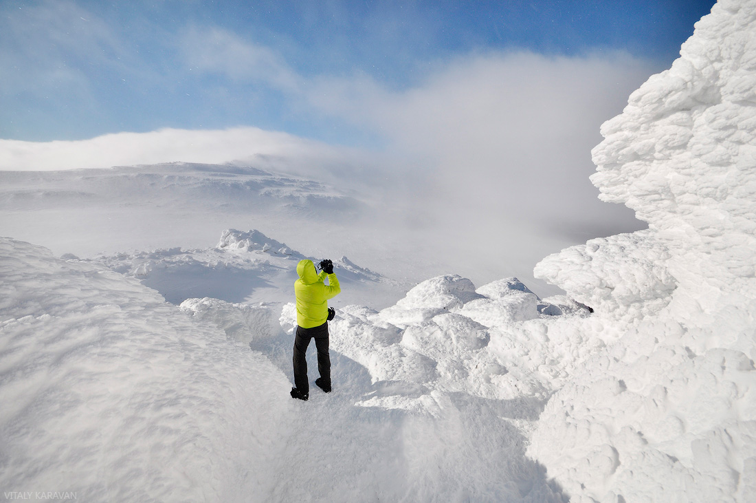 Зима гора Южный Иов