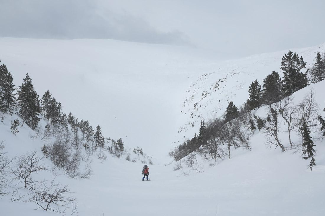 Зимняя река Северный Катышер лыжный поход