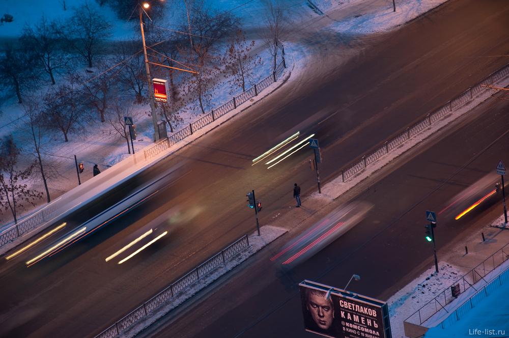Екатеринбург проспект Космонавтов оживленное движение