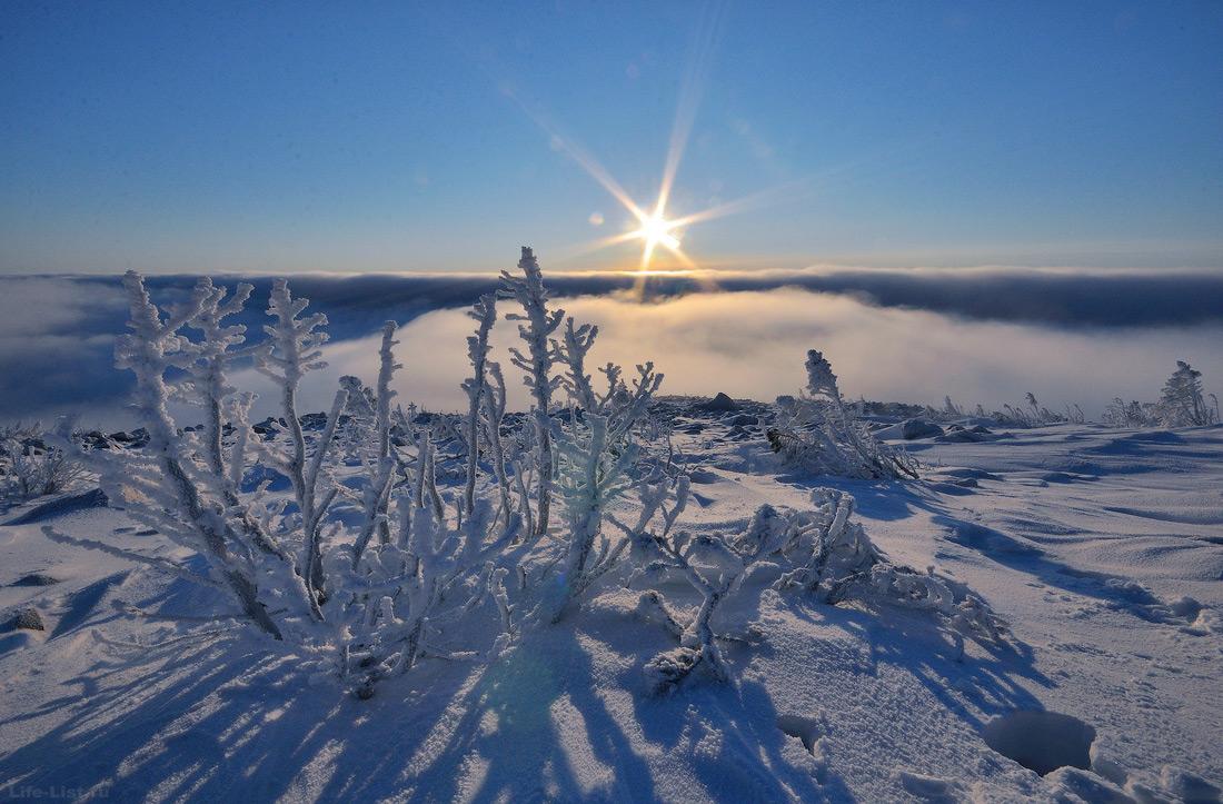 Гора Косьвинский камень Кытлым зимой фото