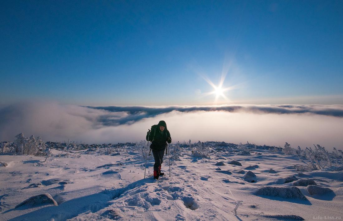 Подъем на гору Косьвинский камень зимой