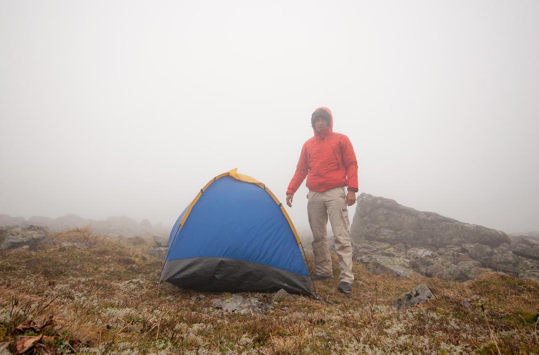 Косьвинский камень вершина плато Северный урал ночевка в палатке